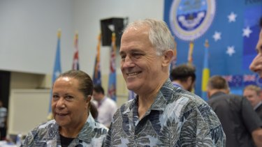 Malcolm Turnbull at the Pacific Islands Forum in Pohnpei, Micronesia.