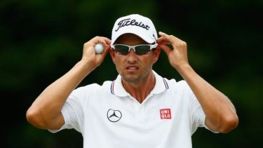 On top of the world: Adam Scott has overtaken Tiger Woods at the top of the world golf rankings.