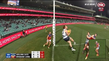 After falling behind in the first half, the Geelong Cats hit back after the main break to demoralise the Brisbane Lions by 33 points.