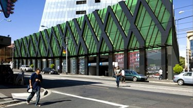 An artist's impression of the proposed redevelopment of Camberwell station, viewed from Burke Road.