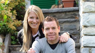 Cadel Evans and wife Chiara enjoy their quiet times at home in Stabio, Switzerland.