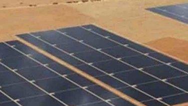 Artist's impression of AGL's solar plants.