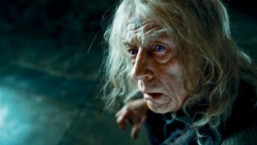 John Hurt as Mr Ollivander in Harry Potter and the Deathly Hollows Part One.