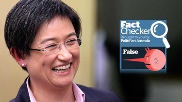 Finance Minister Penny Wong's claim of a $70 billion Coaliton black hole is false.
