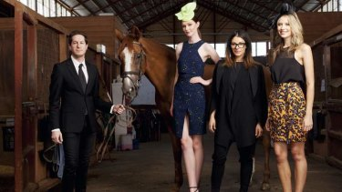 Dressy: Marc Freeman and Camilla Freeman-Topper (wearing black) with their track trends.