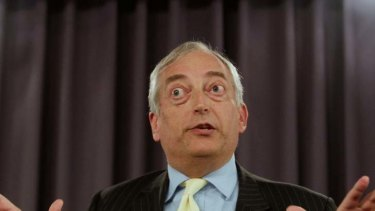Lordly air ... British climate change sceptic Lord Monckton defends his aristocratic credentials to the National Press Club yesterday.