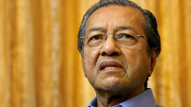 Former Malaysian prime minister Mahathir Mohamad.