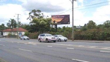 The billboard in Milton near the 96.5 Family FM headquarters.