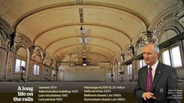 The historic ballroom on the third floor of Flinders Street Station.