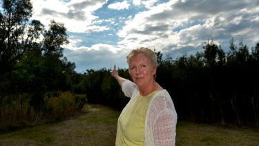 Saw things ... Joy Clarke at the Grange Heathland reserve.