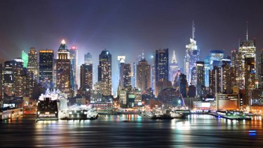 High-tech reflections: New York City.