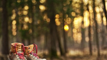 """Made for walking: Cheryl Strayed's boots were """"icons of her determination."""