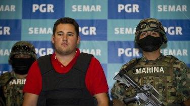 Mexican marines arrested Jesus Alfredo Guzman Salazar.