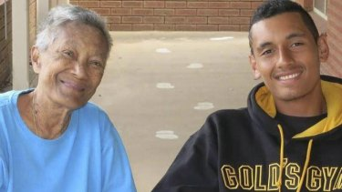 Family nan: Nick Kyrgios with his grandmother Julianah Foster. ''She was a massive part of me, my brother and my sister's life,'' he said. ''She was always there for us.''