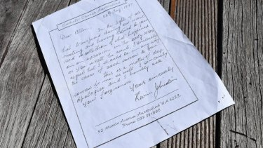 A copy of the letter Father Kevin Johnston wrote to Alan Rowe, dated August 26, 1997.