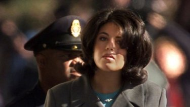 """Former White House intern Monica Lewinsky in 1998. Hillary Clinton called her a """"narcissistic loony toon""""."""