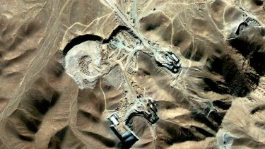 A suspected uranium-enrichment facility near Qom, 156 km southwest of Tehran, in this September 27, 2009 satellite photograph released by DigitalGlobe.