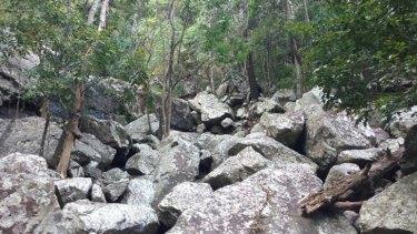 The rocky stream beds where Gulbaru Geckos hang out.