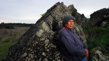 Gunditjmara elder Ken Saunders at Lake Condah in western Victoria, where the people of the Rocks were massacred in the mid-19th century .