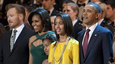 The Obamas have also come under fire for a concert treat by boy band The Jonas Brothers for their daughters Malia and Sasha.