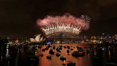 Midnight celebrations: Sydney's highly anticipated New Year's Eve fireworks.