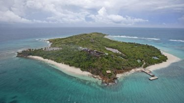 Striking it rich … the remains of the burnt-out house on Necker Island that was struck by lightning.