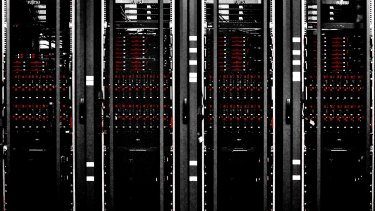 Servers at Fujitsu's Numazu Software Development Cloud Center in Japan.