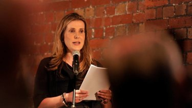 Kathy Jackson speaks to the H.R. Nicholls Society, which has its own views on industrial relations.