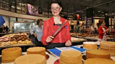 """Not every cake can be perfect"": Brigid Treloar, cake judge."