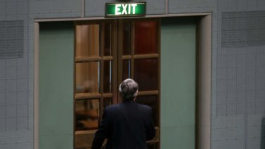 Labor MP Wayne Swan leaves the chamber. Photo: Alex Ellinghausen
