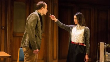 Matthew Spencer and Janine Harouni in Headlong's production of George Orwell's 1984.
