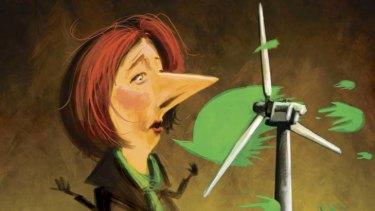 Julia Gillard ... talks hit the fan. Illustration: Michael Mucci