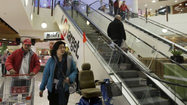 Shoppers inside the Carlingford Court shopping centre in Sydney's northern districts.