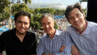 Sam Pang, Santo Cilauro and Ed Kavalee have reunited for <i>Santo, Sam and Ed's Sports Fever!</i>