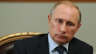 Vladimir Putin at a meeting at Novo-Ogarevo, his estate outside Moscow, on July 24.