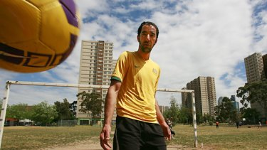 Set to play goal for Australia in the Homeless World Cup  is former Iranian refugee Enso Neghad - known to his teammates as Ferrari because, in Iranian, the word means escapee.