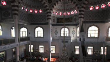 Aesthetics and spirituality... worshippers at t he Auburn Gallipoli Mosque this week. The National Trust says it is an architecturally and culturally important building.
