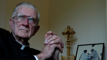 Retired Cardinal Edward Clancy at his home in Bellevue in 2005.