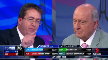 "Shock jock Alan Jones described Senator James McGrath as the ""captain of bedwetters"" on Saturday night."