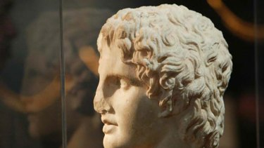 A bust of Alexander the Great.