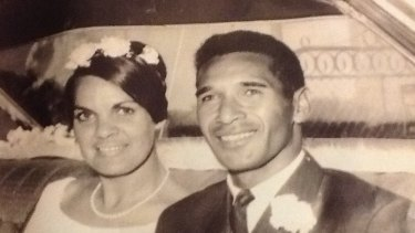 Provided picture of Graham and Iris Paulson at their wedding.