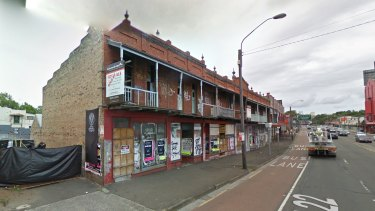 Gone: The heritage-listed Edwardian facade that was by the Annandale Hotel.