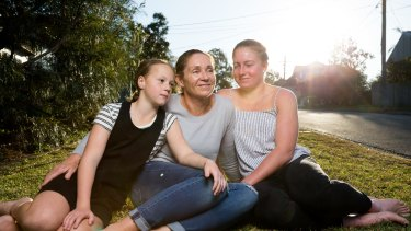Nicole Mannix-Power with daughters Ruby and Chloe, who both survived their mother's RH- sensitisation.