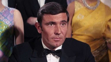 George Lazenby as James Bond in On Her Majesty's Secret Service