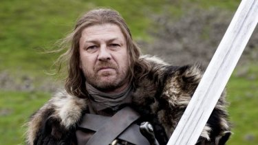 Sean Bean as Ned Stark in the first season of <i>Game of Thrones</i>.