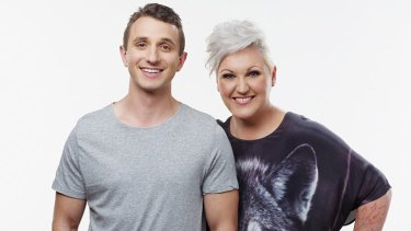 Nova's new Melbourne breakfast team: Tommy Little and Meshel Laurie.