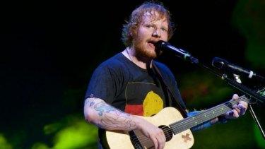 Ed Sheeran at Allianz Stadium in Sydney.