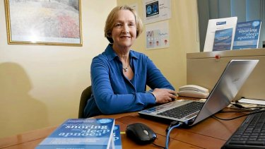 Physiotherapist and breathing educator Tess Graham in her home office.