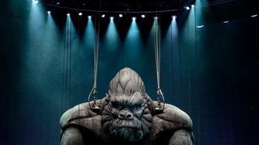 The giant one-tonne gorilla puppet starring in King Kong the musical was unveiled to much fanfare in Melbourne last week.