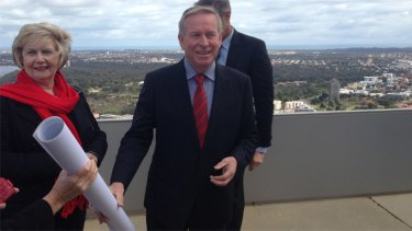 Colin Barnett revealed more details of the boundary reforms after revealing them from the roof of the Central Park office tower on Sunday.
